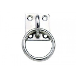 Stainless Steel eye plate 35 x 40 mm with O ring 6mm
