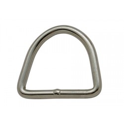 stainless steel dee ring 4x22x27 mm