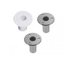 flush mount sockets for gangways with 25 mm pin lacquered aluminum