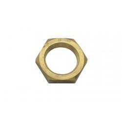 "Brass plain hex pipe nut 1"""