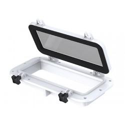 UV Rays resistant ABS stabilized rectangular portlight 400 x H200mm
