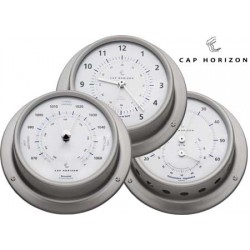 Marine Clock Stainless Steel Satin 120mm Cap Horizon (by barigo)