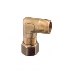 Brass Male Curved Fitting 90° 3/8 x 10 Hydraulic