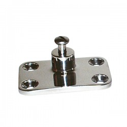Stainless Steel Base for Bimini Side Mounting 72 x 47mm